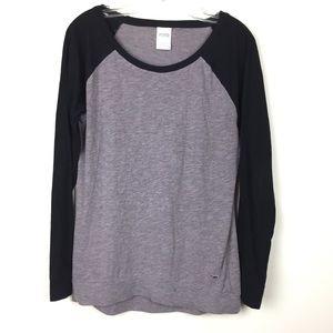 Victoria's Secret Gray Long Sleeve Shirt sz S